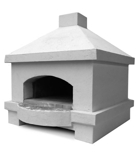 A blank outdoor oven, able to be built completely custom to your design aesthetics.